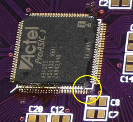 FPGA misaligned by one pin