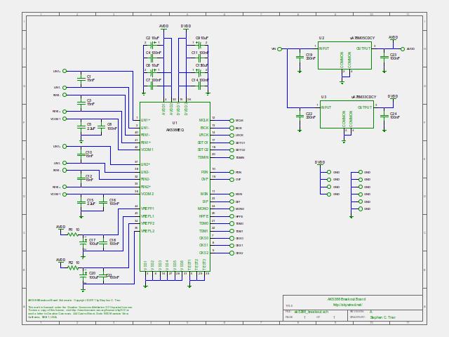 AK5388 ADC Breakout Board schematic