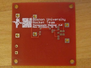 Rocket team's thermocouple digitizer PCB, bottom side