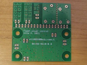 Ville K's flash power control board, bottom side