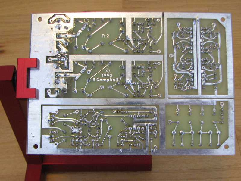 KK7B R2 receiver board, bottom side